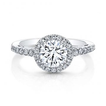 ROUND DIAMOND HALO ENGAGEMENT RING - 27003-18W