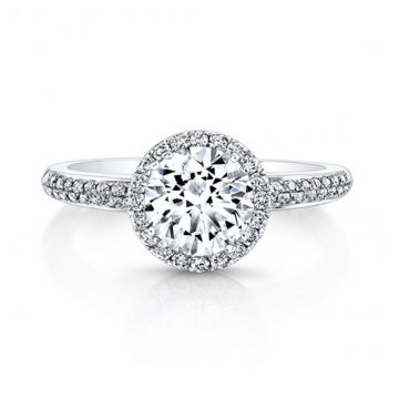 ROUND DIAMOND HALO ENGAGEMENT RING - 27011-18W