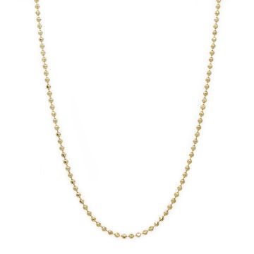 14 Karat Yellow Gold Bead Link Chain