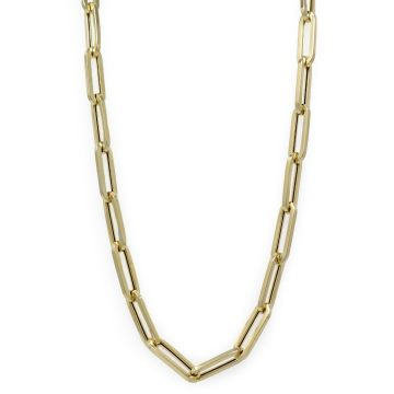 14 Karat Yellow Gold Flat Link Chain