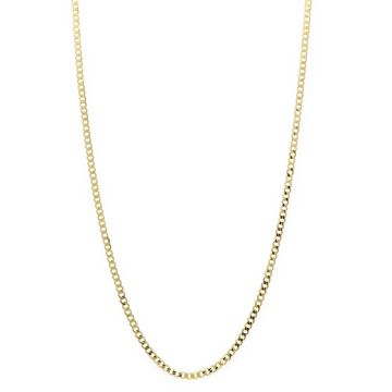14 Karat Yellow Gold Curb Link Chain