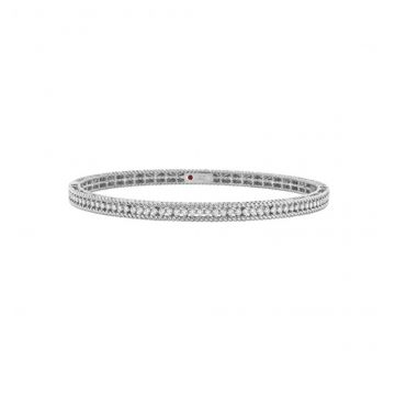 Roberto Coin Symphony Collection Diamond Braided Bangle