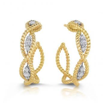 Roberto Coin Diamond Braided Earrings