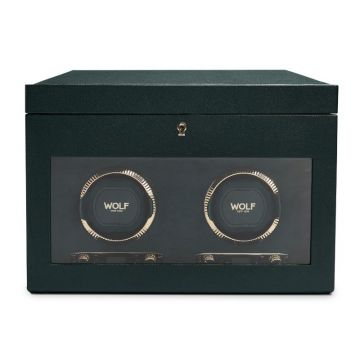 WOLF British Racing Green Double Watch Winder