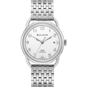 Bulova Commodore Automatic Stainless Steel Mens Watch