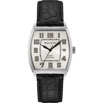 Bulova Banker Automatic Stainless Steel Mens Watch