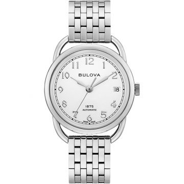 Bulova Commodore Automatic Stainless Steel Womens Watch