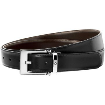 Montblanc Black And Brown Reversible Business Belt