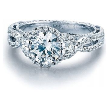 Verragio 3-Stone Split Shank Diamond Engagement Ring AFN-5032R