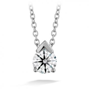 Hearts on Fire 0.2 ctw. Aerial Single Diamond Pendant in 18K White Gold