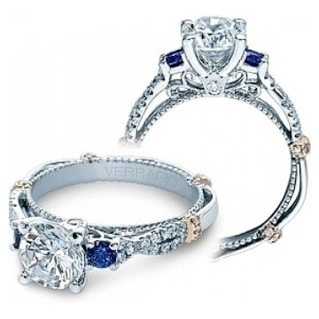 Verragio Diamond and Sapphire Twist Engagement Ring CL-DL129R