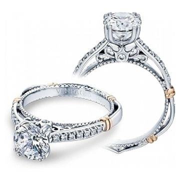 Verragio Pave Diamond Engagement Ring D-101M