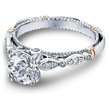 Verragio Pave & Bezel Set Diamond Engagement Ring - D100