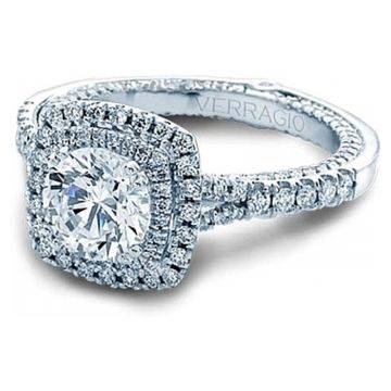 Verragio Double Halo Diamond Engagement Ring  ENG-0425CU-TT