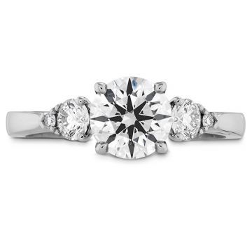 Hearts on Fire Platinum 3 Stone Engagement Ring