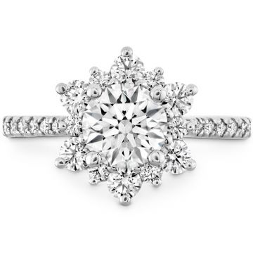 Hearts on Fire Platinum Floral Engagement Ring