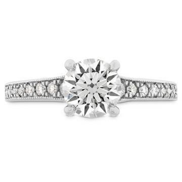 Hearts on Fire 18k White Gold Straight Engagement Ring