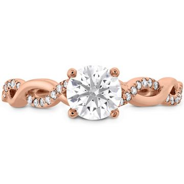 Hearts on Fire 18k Rose Gold Twisted Engagement Ring
