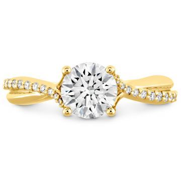 Hearts on Fire 18k Yellow Gold Twisted Engagement Ring