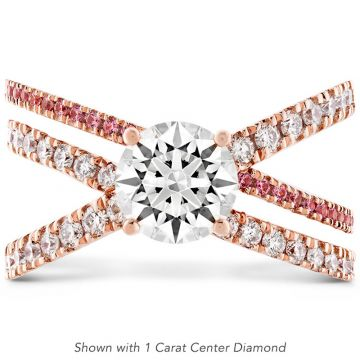 Hearts on Fire 18k Rose Gold Harley Engagement Ring