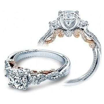 Verragio Three Stone Twist Engagement Ring - INS-7074RTT