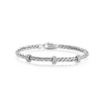 18k white gold Bangle .33D
