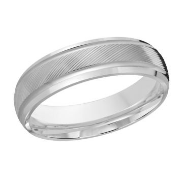 Carved Finish Wedding Band