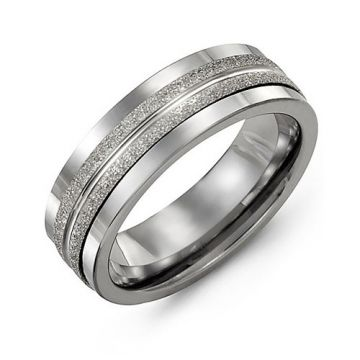 Madani 7mm Cobalt White Gold Wedding Band