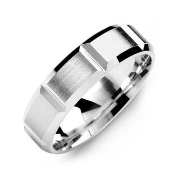 6mm White Gold 10K White Gold Wedding Band