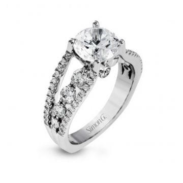 18k white gold engagement ring 1.12D
