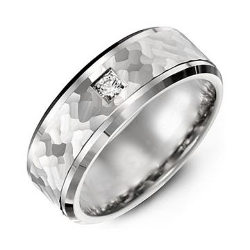 7mm White Gold 10K White Gold 0.05tcw Diamond Wedding Band