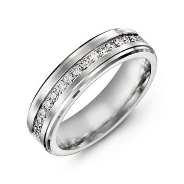 6mm White Gold 10K White Gold 0.34tcw Diamond Wedding Band