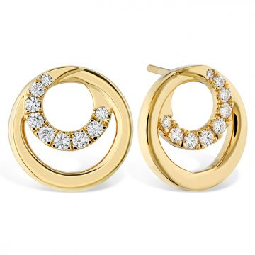 Hearts on Fire 0.39 ctw. Optima Circle Earrings in 18K Yellow Gold