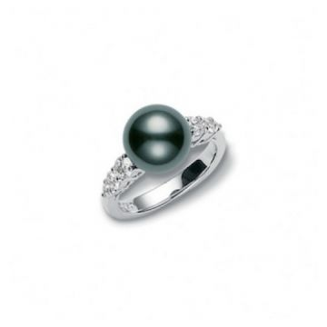 MIKIMOTO Morning Dew Black South Sea Cultured Pearl Ring