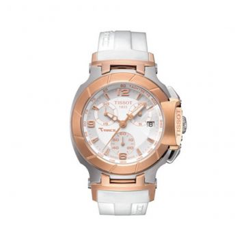 T Race Quartz White / Gold Women's Watch - T048_217_27_017_00