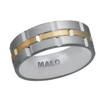11MM TWO TONE SATIN FINISH WEDDING BAND - FJM-002 8G-0224