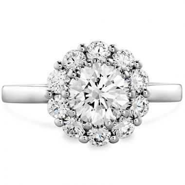 Hearts on Fire 18k White Gold Floral Engagement Ring