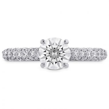 Hearts on Fire Platinum Euphoria Pave Engagement Ring